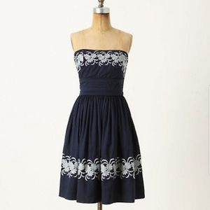 Anthropologie Girls from Savoy Strapless Dress